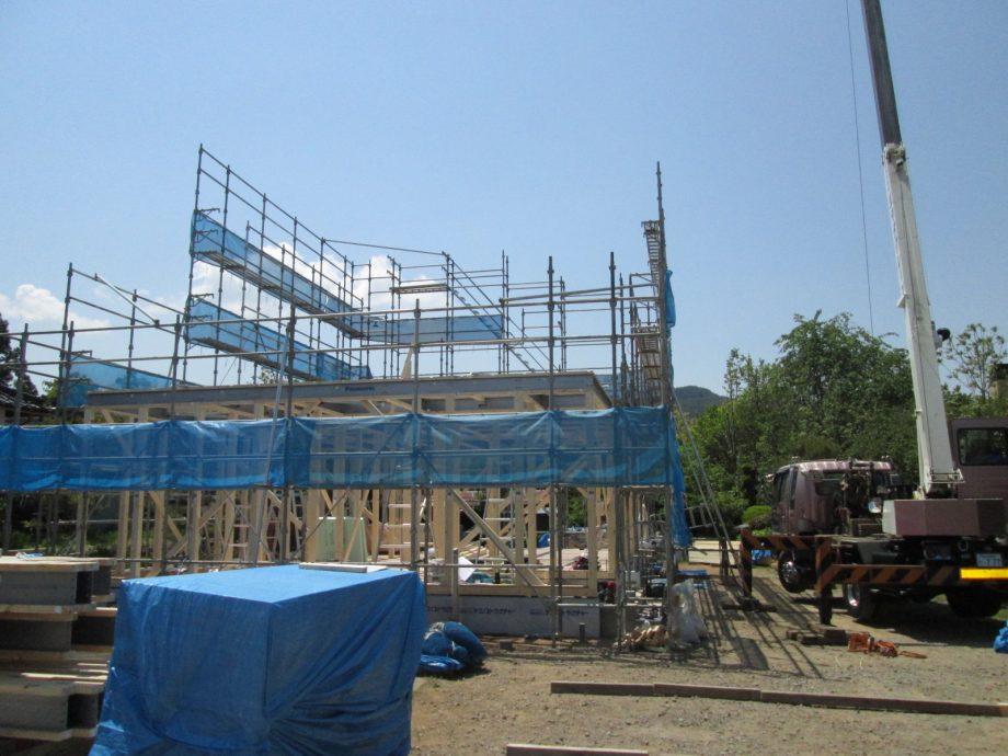 竹村邸建て方 (1)